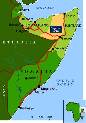 Somalia Created a new federal state inside Somalia called The